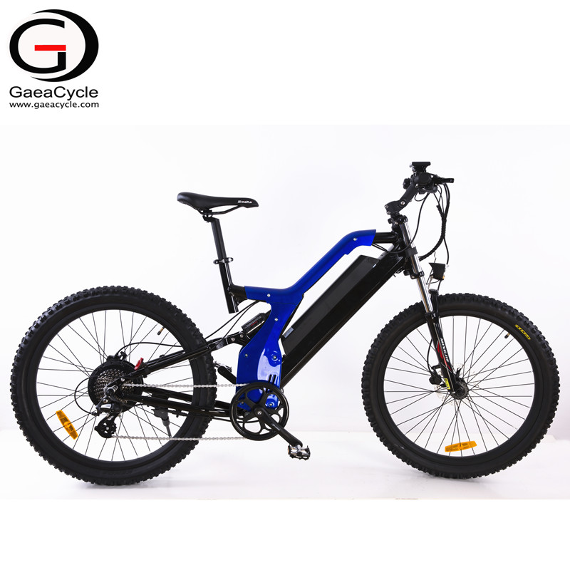500W Full Suspension Electric Mountain Bike