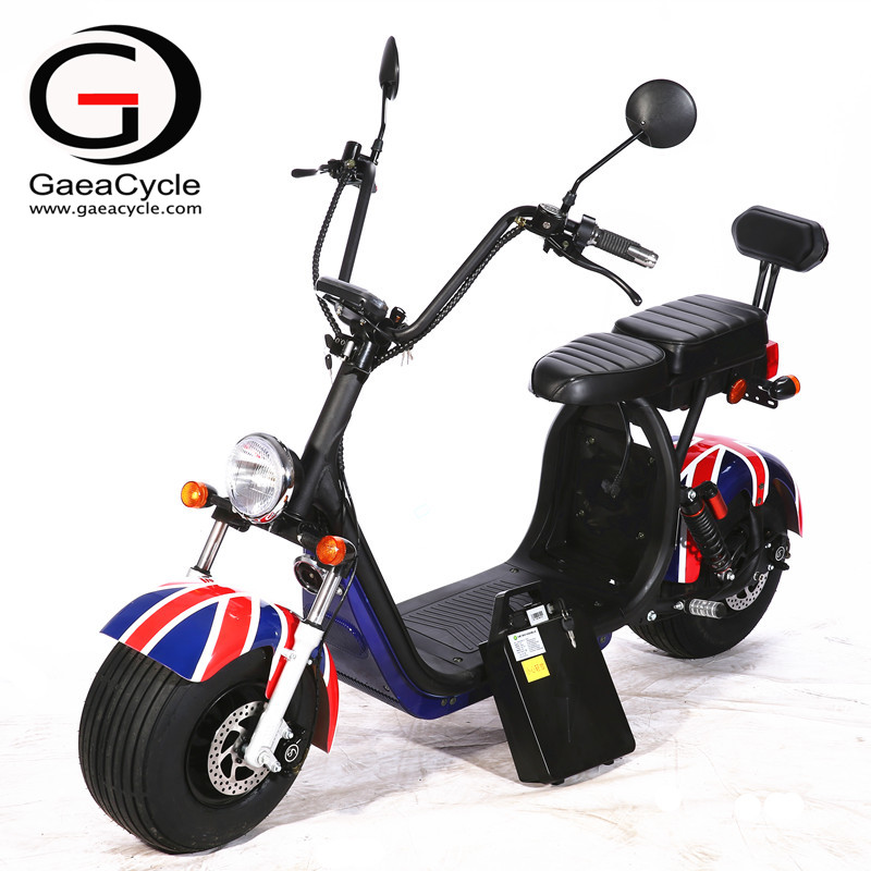 Double Battery 18*9.5 Fat Tire Electric Scooter With EEC