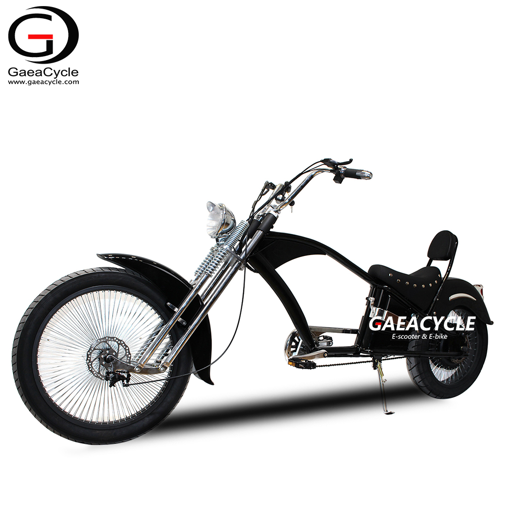 48 750 watts Chopper Electric Bicycle Fat Tire Ebike with Pedal Assist Electrical Bike Upgrade with Headlight LCD Display