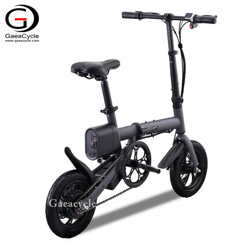 Mini 12inch Tyre Folding Electric Bike Bicycle Pedal Assistance 36volt 240watt Long Range Ebike