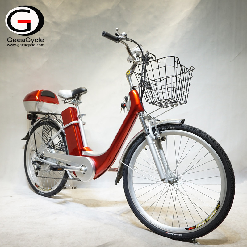 26inch Cheapest Hot Sale City Electric Bicycle with Basket For Lady