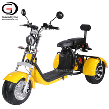 EEC COC Approval 1500W Double Battery Citycoco 3 Wheel Electric Scooter